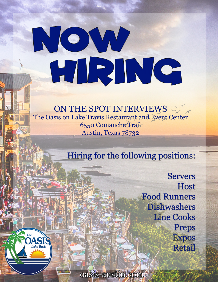 Now Hiring at Oasis